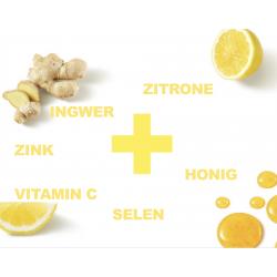 Aloe mit Ingwer, Selen, Honig, Zitrone, Zink, Vitamin C